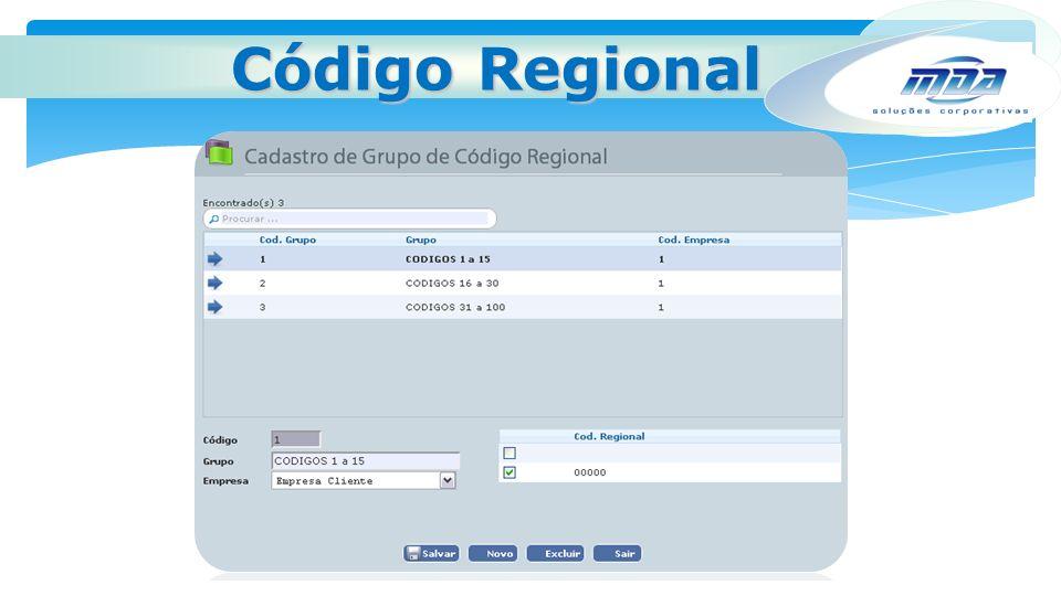 Código Regional
