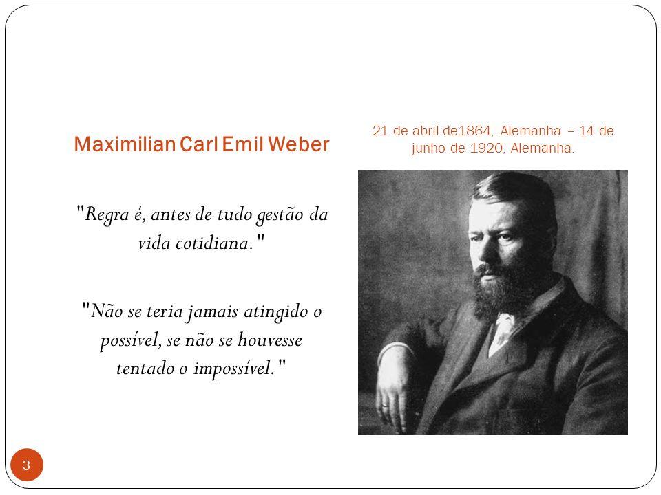 Maximilian Carl Emil Weber 21 de abril de1864, Alemanha – 14 de junho de 1920, Alemanha.