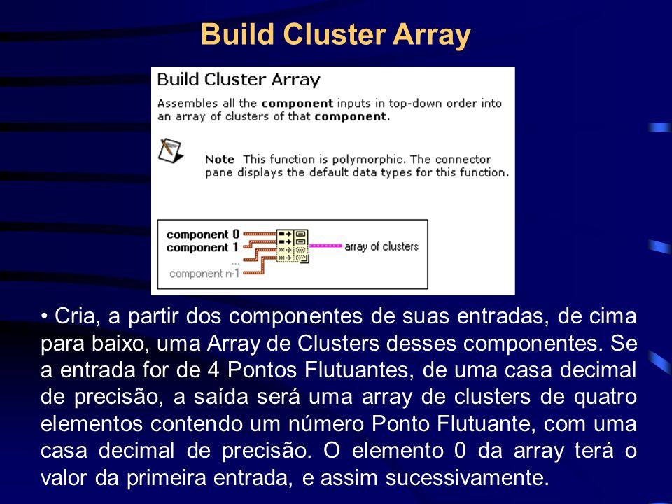 Cria, a partir dos componentes de suas entradas, de cima para baixo, uma Array de Clusters desses componentes.