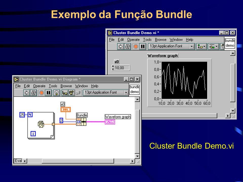 Exemplo da Função Bundle Cluster Bundle Demo.vi