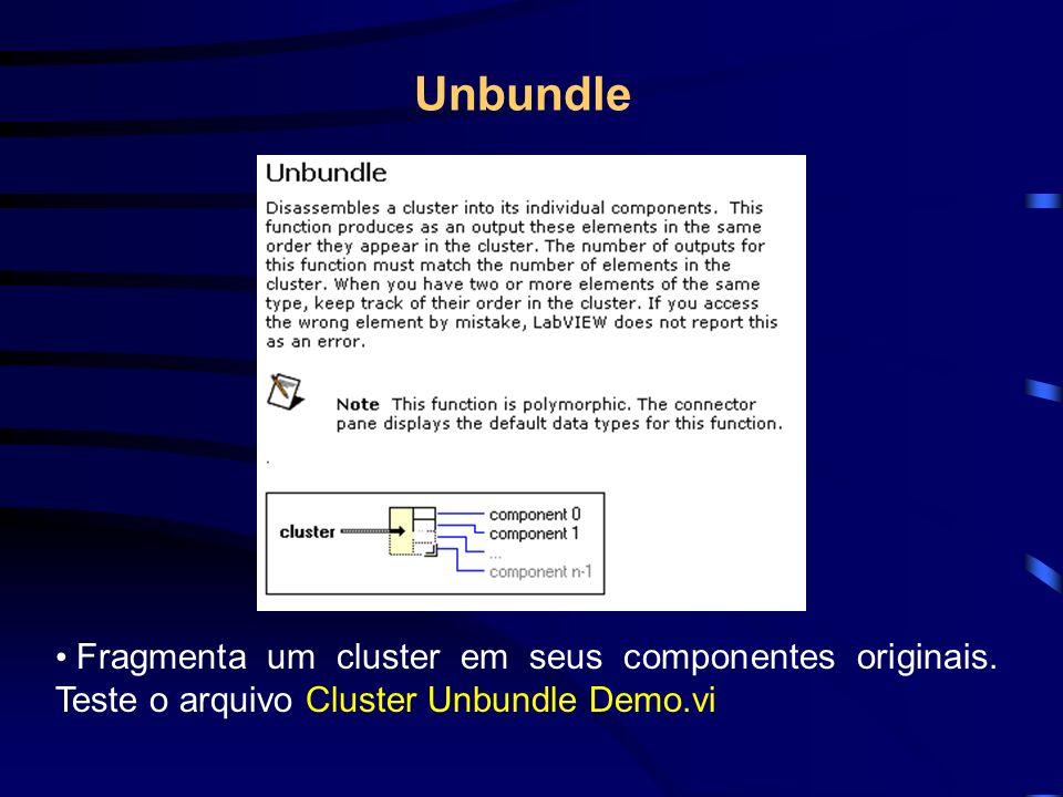Fragmenta um cluster em seus componentes originais.