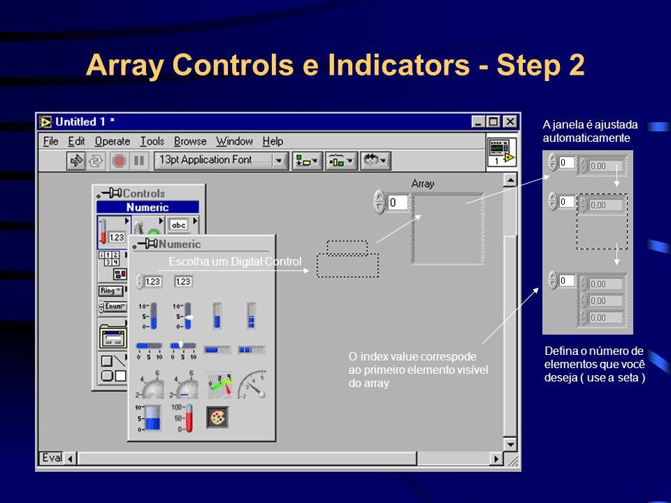 Terminal de um Array Shell Array Shell Array de string Colchete significa um array Terminal com bordas cor de rosa significa um array de strings Terminal com bordas pretas
