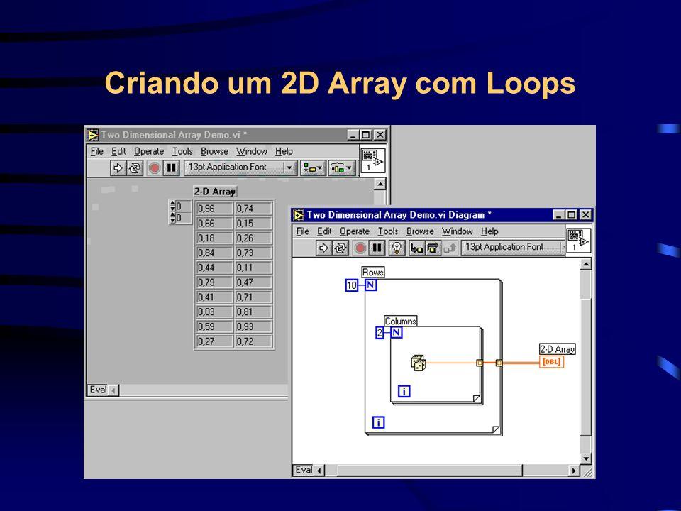 Criando um 2D Array com Loops