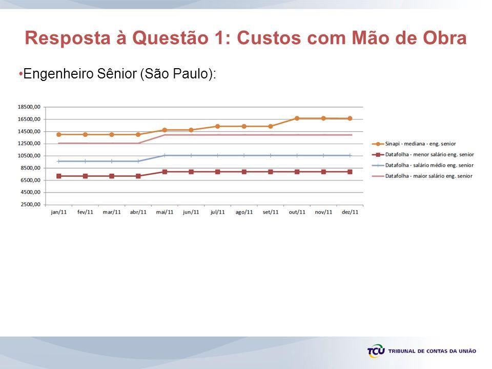 Resposta à Questão 1: Custos com Mão de Obra Engenheiro Sênior (São Paulo):