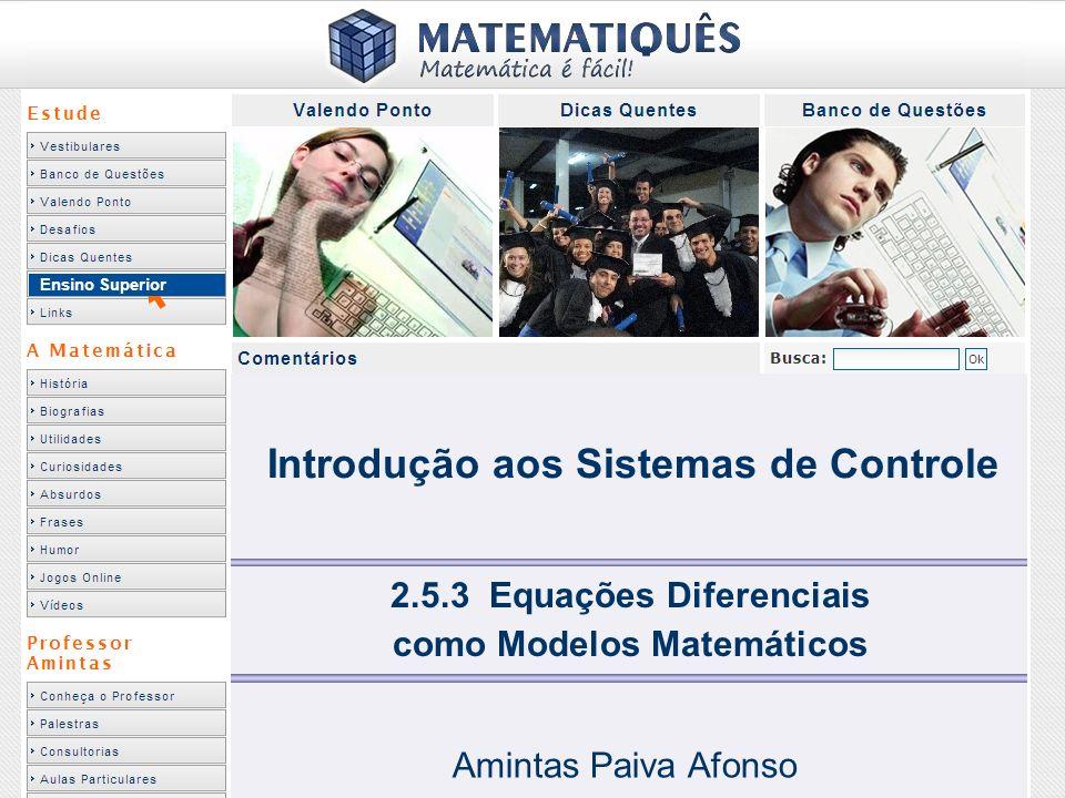 Equações Diferenciais como Modelos Matemáticos Amintas Paiva Afonso