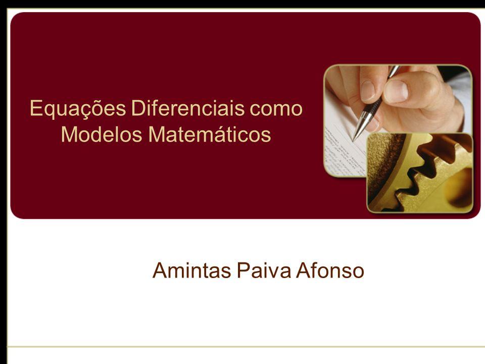 Modelos Matemáticos A construção de um modelo matemático de um sistema começa com 2) Elaboramos um conjunto de hipóteses razoáveis ou pressuposições sobre o sistema que estamos tentando descrever.