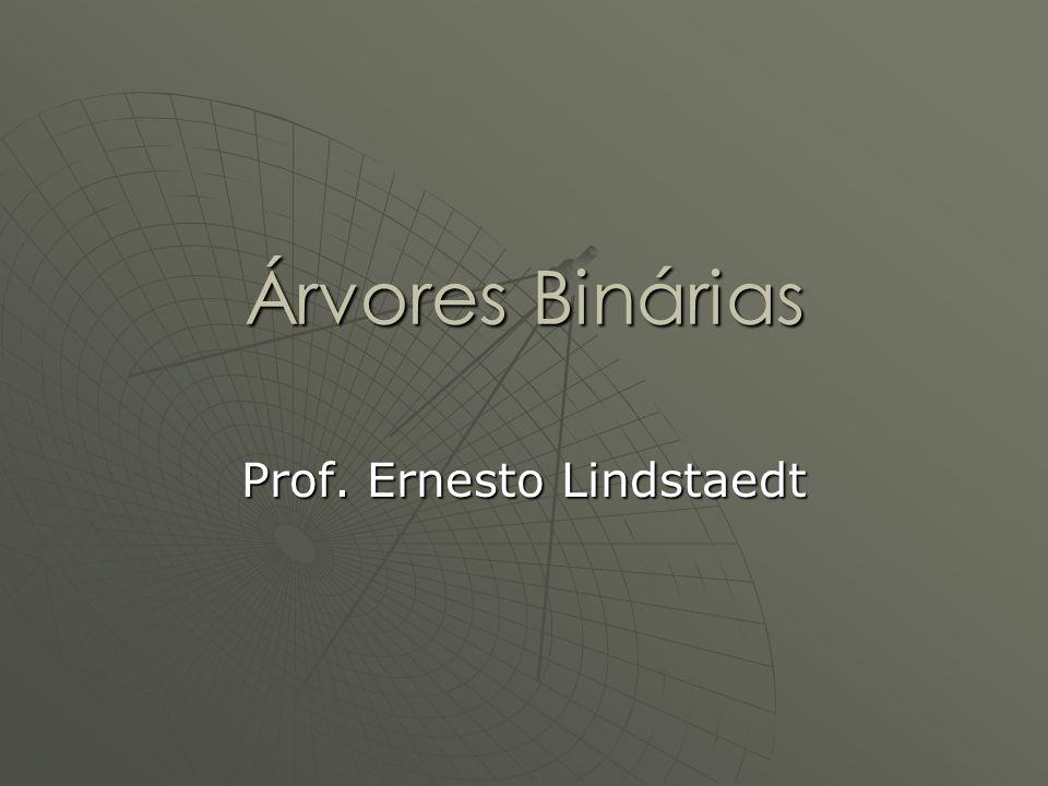 Árvores Binárias Prof. Ernesto Lindstaedt
