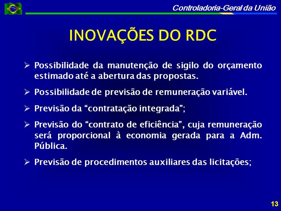Controladoria-Geral da União Possibilidade da manutenção de sigilo do orçamento estimado até a abertura das propostas.