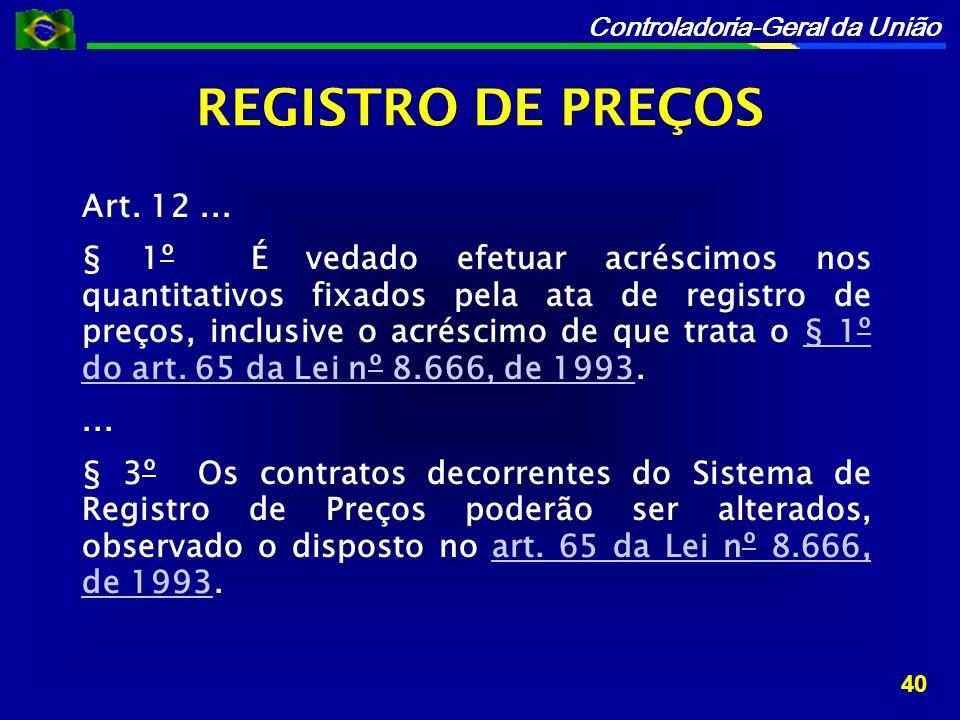 Controladoria-Geral da União Art.12...