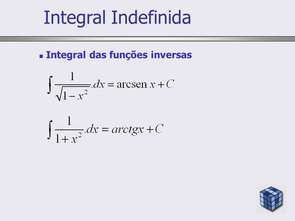 Integral das funções inversas Integral Indefinida