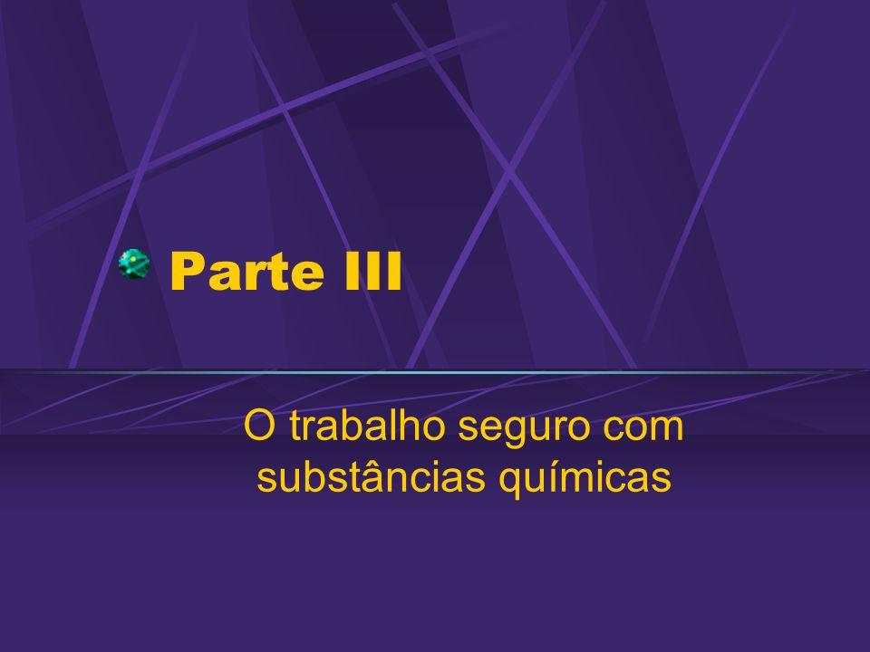 13/06/2002 Segurança Química Uso, armazenamento, transporte e descarte de substâncias químicas Preocupação recente: 1990: Programa Internacional de Segurança Química (IPCS)/OMS 1998: Normativas CE sobre SQ 2000/2001 – Workshops Resíduos Químicos/SBQ 2001: Infra FAPESP - RQ 2000: III Forum Intergovernamental SQ MMA ponto focal no Brasil 2001: Comissão do MMA (COPASQ) Sub-comissão Segurança Química em Universidades e Instituições de Pesquisa