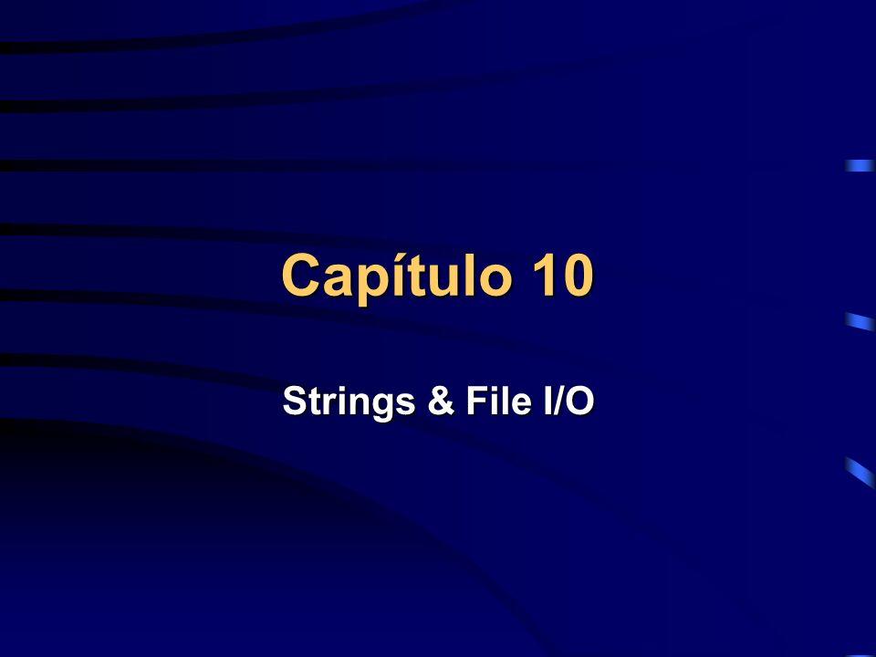 Strings Strings são um conjunto de Caracteres ASCII.