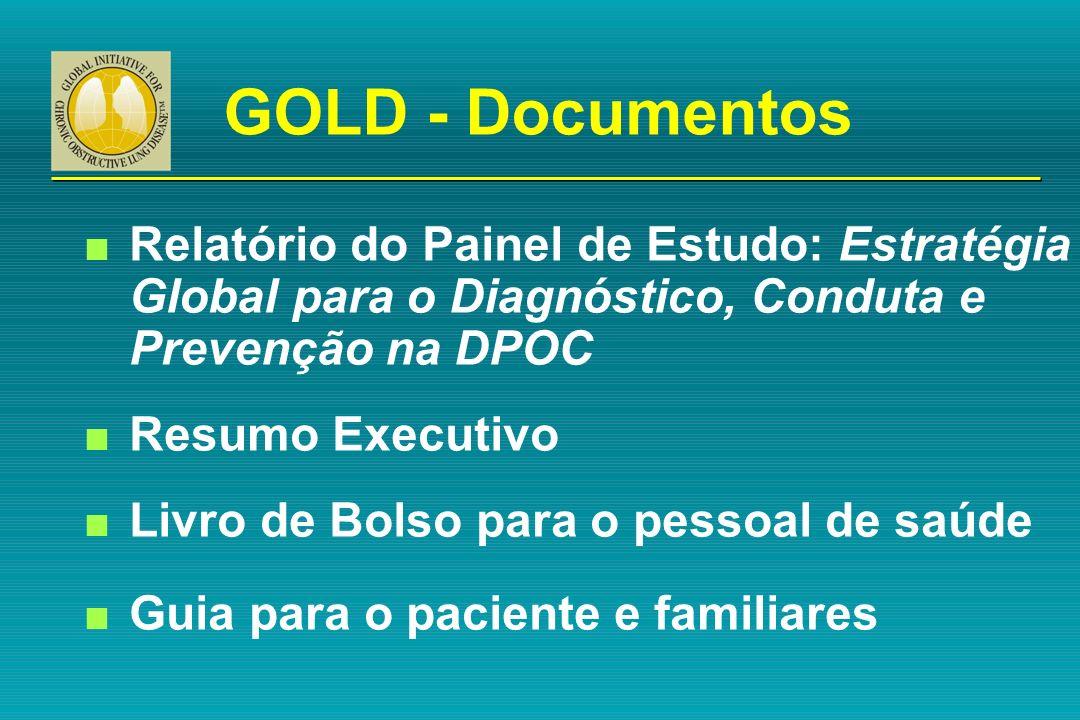 GOLD - Documentos n Relatório do Painel de Estudo: Estratégia Global para o Diagnóstico, Conduta e Prevenção na DPOC n Resumo Executivo n Livro de Bol