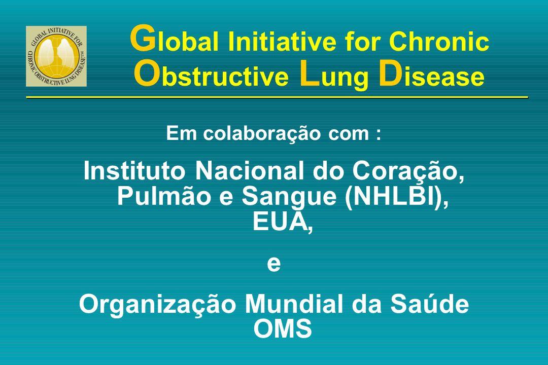 G lobal Initiative for Chronic O bstructive L ung D isease Em colaboração com : Instituto Nacional do Coração, Pulmão e Sangue (NHLBI), EUA, e Organiz