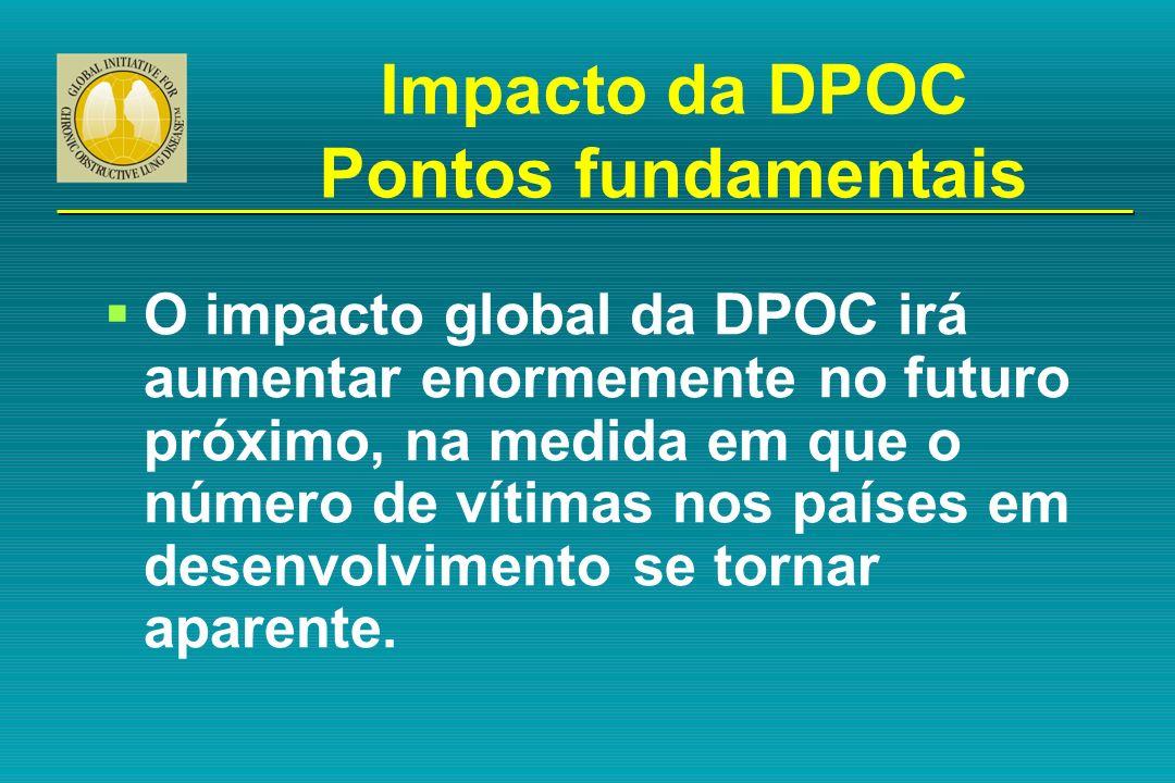 O impacto global da DPOC irá aumentar enormemente no futuro próximo, na medida em que o número de vítimas nos países em desenvolvimento se tornar apar