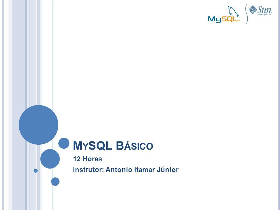 M Y SQL B ÁSICO 12 Horas Instrutor: Antonio Itamar Júnior