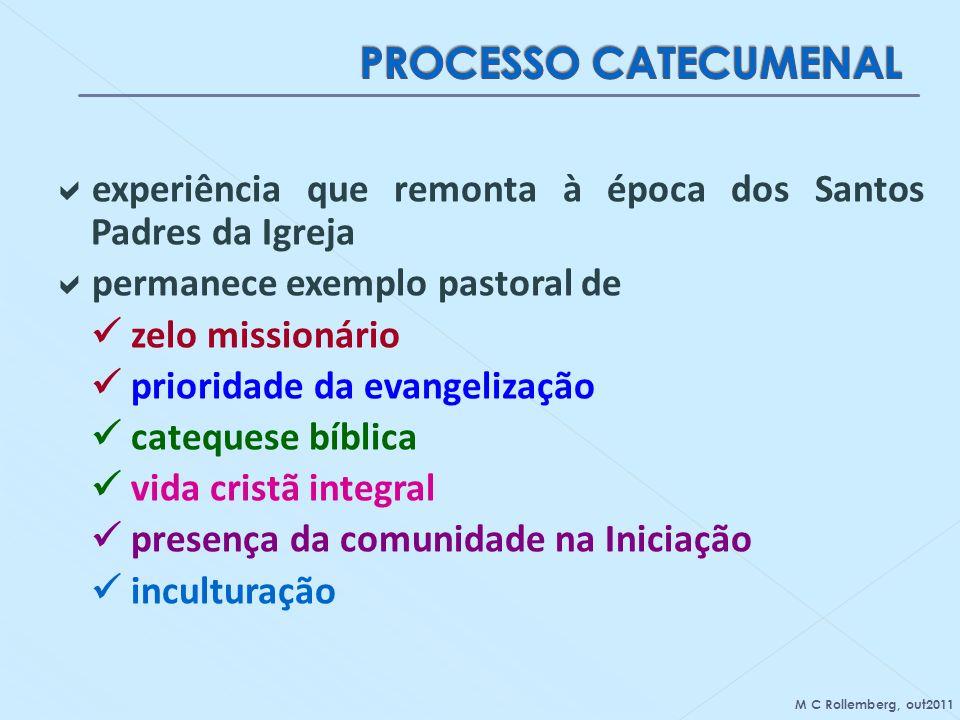 experiência que remonta à época dos Santos Padres da Igreja permanece exemplo pastoral de zelo missionário prioridade da evangelização catequese bíbli