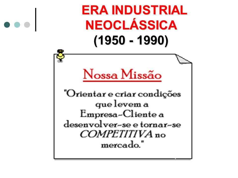 ERA INDUSTRIAL CLÁSSICA (até 1950) Hierarquia piramidal e centralizada