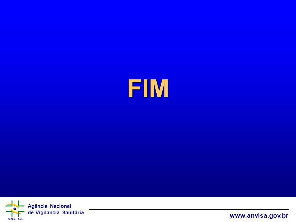 Agência Nacional de Vigilância Sanitária www.anvisa.gov.br FIM