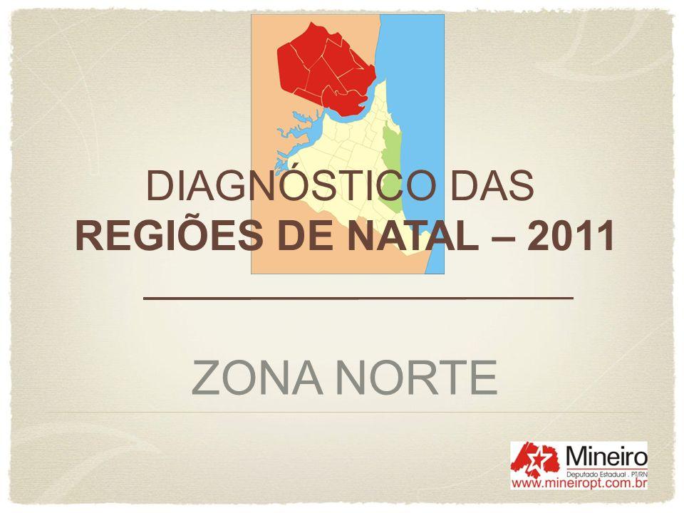 ZONA NORTE DE NATAL ELEITORADO DA CIDADE REGIÃO/BAIRROELEITORES% / NATAL NORTE 144.380 27,53 Potengi 61.231 11,67 Lagoa Azul 30.620 5,84 Igapó 16.353 3,12 Pajuçara 16.013 3,05 N.