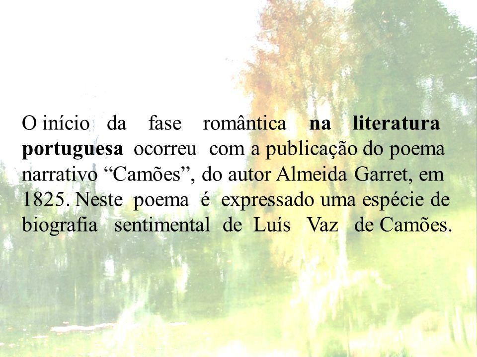 Primeira geração romântica portuguesa - Sobrevivência de características neoclássicas.