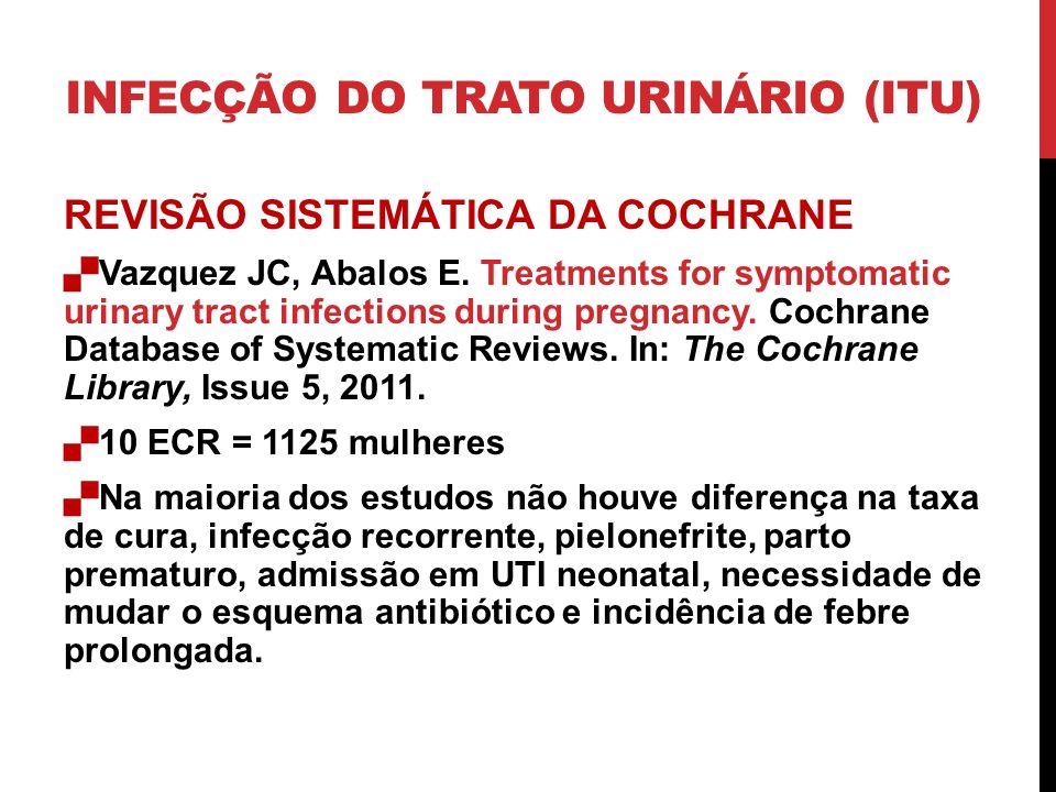 REVISÃO SISTEMÁTICA DA COCHRANE Vazquez JC, Abalos E.