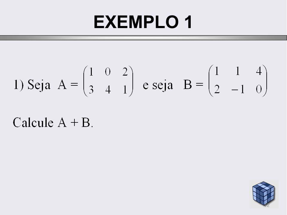 EXEMPLO 1 12