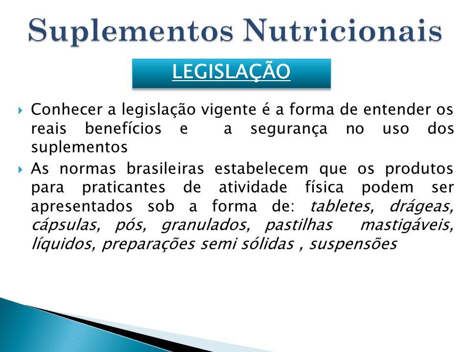 Conhecer a legislação vigente é a forma de entender os reais benefícios e a segurança no uso dos suplementos As normas brasileiras estabelecem que os