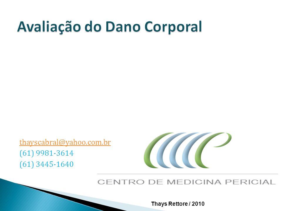 A avaliação e reparação dos danos corporais baseia-se, em cada um dos Estados Brasileiros, em disposições legais que assentam em tradições jurisprudenciais e doutrinárias diferentes.