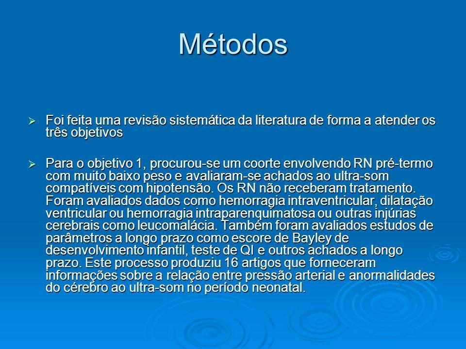 Métodos Foi feita uma revisão sistemática da literatura de forma a atender os três objetivos Foi feita uma revisão sistemática da literatura de forma