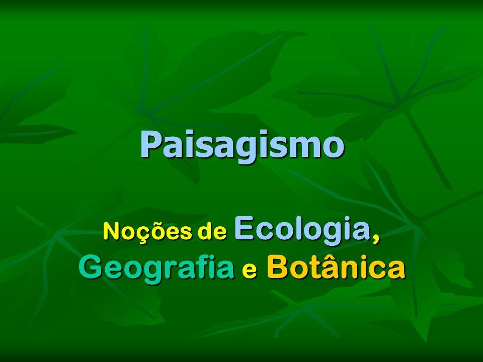 Paisagismo Noções de Ecologia, Geografia e Botânica