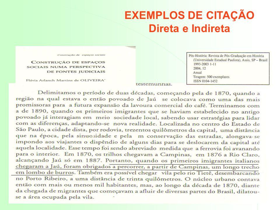 CITAÇÕES – CASOS ESPECIAIS Quando o autor pertence à parte da obra citada, deve -se colocar o termo ( In ) seguido de dois pontos.