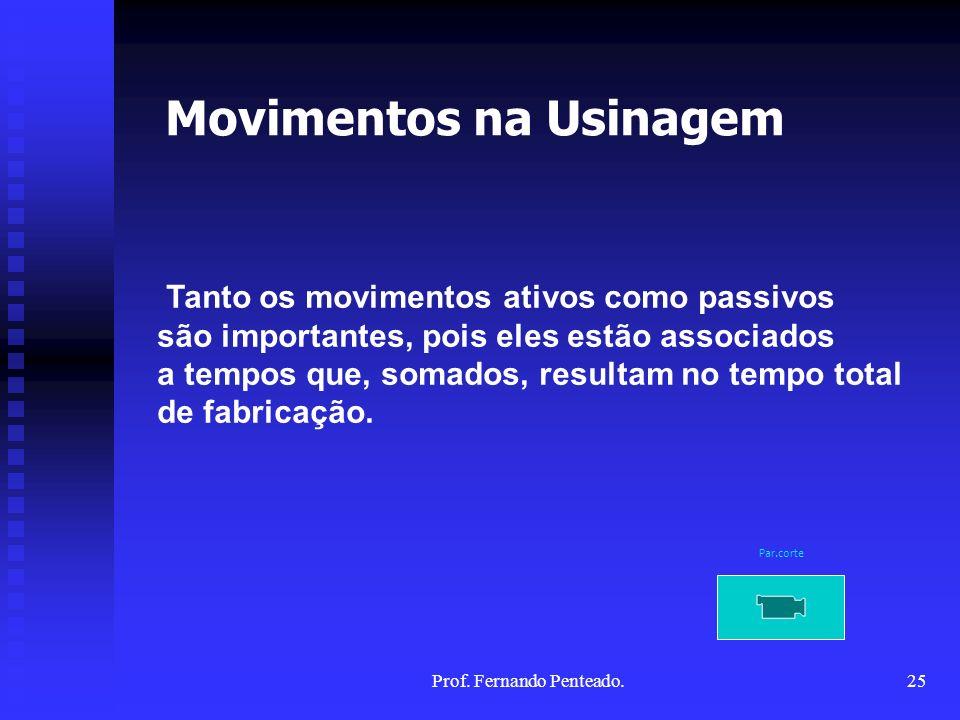 Tanto os movimentos ativos como passivos são importantes, pois eles estão associados a tempos que, somados, resultam no tempo total de fabricação. Mov