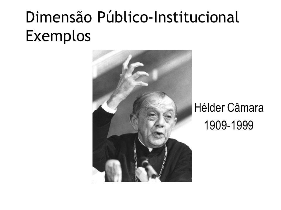 Dimensão Público-Institucional Exemplos Hélder Câmara 1909-1999