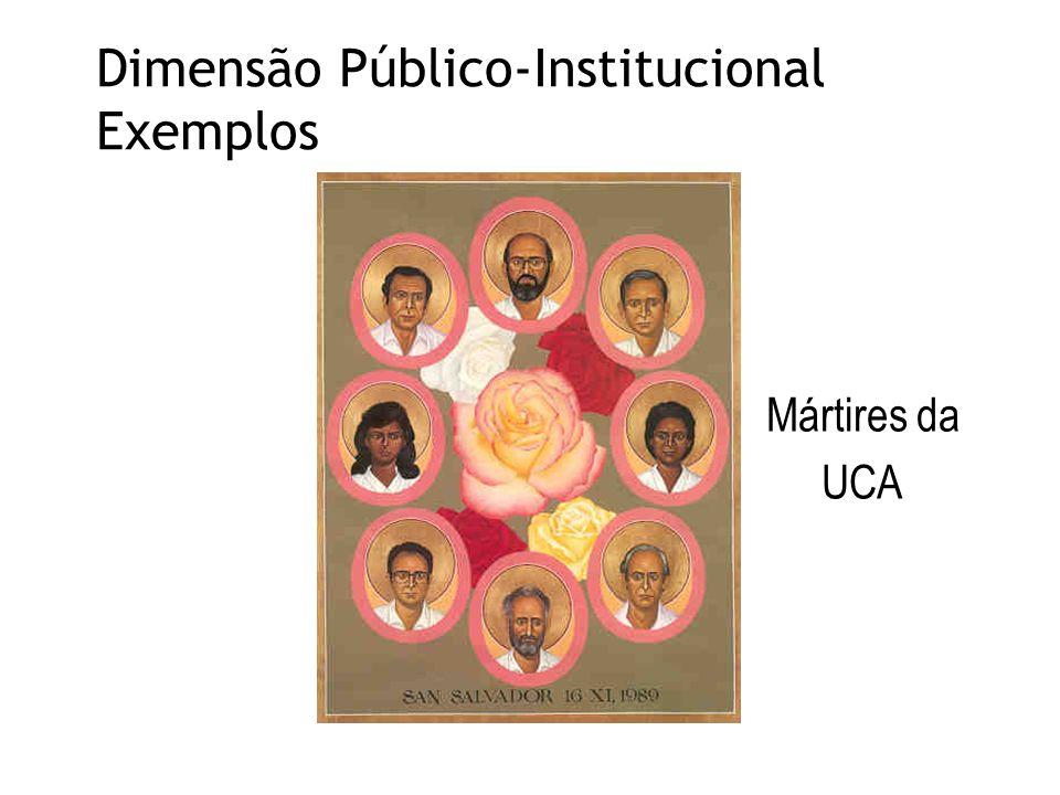 Dimensão Público-Institucional Exemplos Mártires da UCA