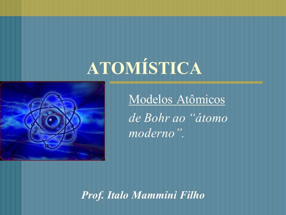 ATOMÍSTICA Modelos Atômicos de Bohr ao átomo moderno. Prof. Italo Mammini Filho