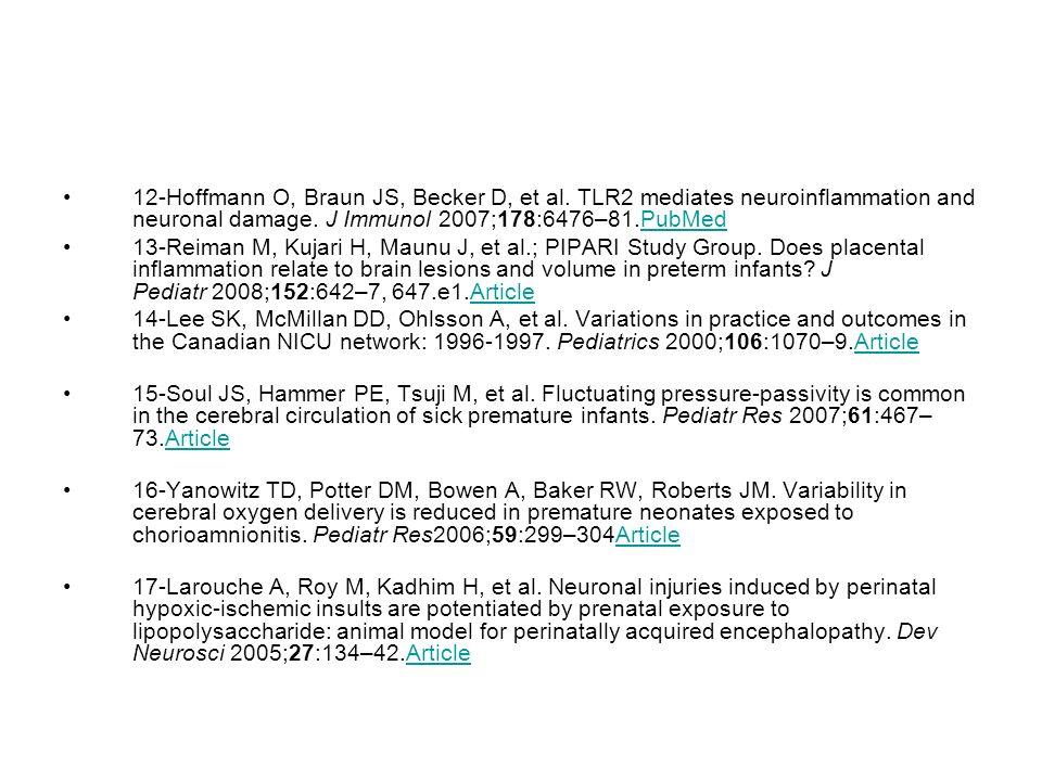 12-Hoffmann O, Braun JS, Becker D, et al.TLR2 mediates neuroinflammation and neuronal damage.