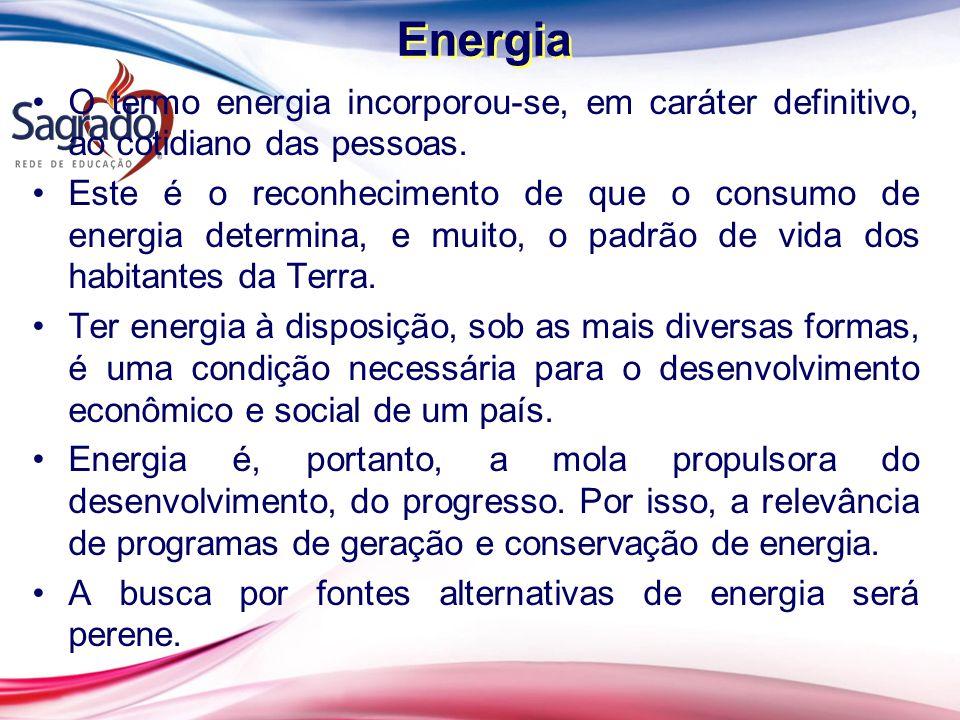 O termo energia incorporou-se, em caráter definitivo, ao cotidiano das pessoas.