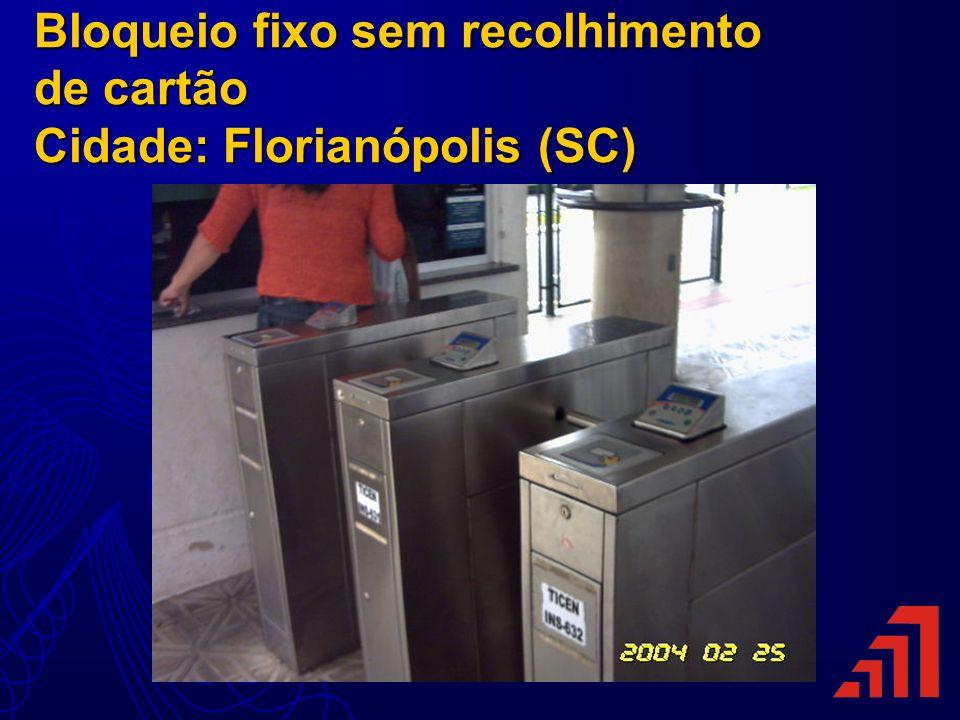 Bloqueio fixo sem recolhimento de cartão Cidade: Florianópolis (SC)