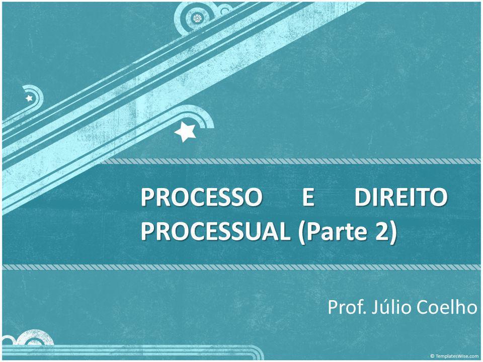 PROCESSO E DIREITO PROCESSUAL (Parte 2) Prof. Júlio Coelho