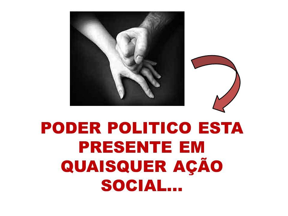 PODER POLITICO ESTA PRESENTE EM QUAISQUER AÇÃO SOCIAL...