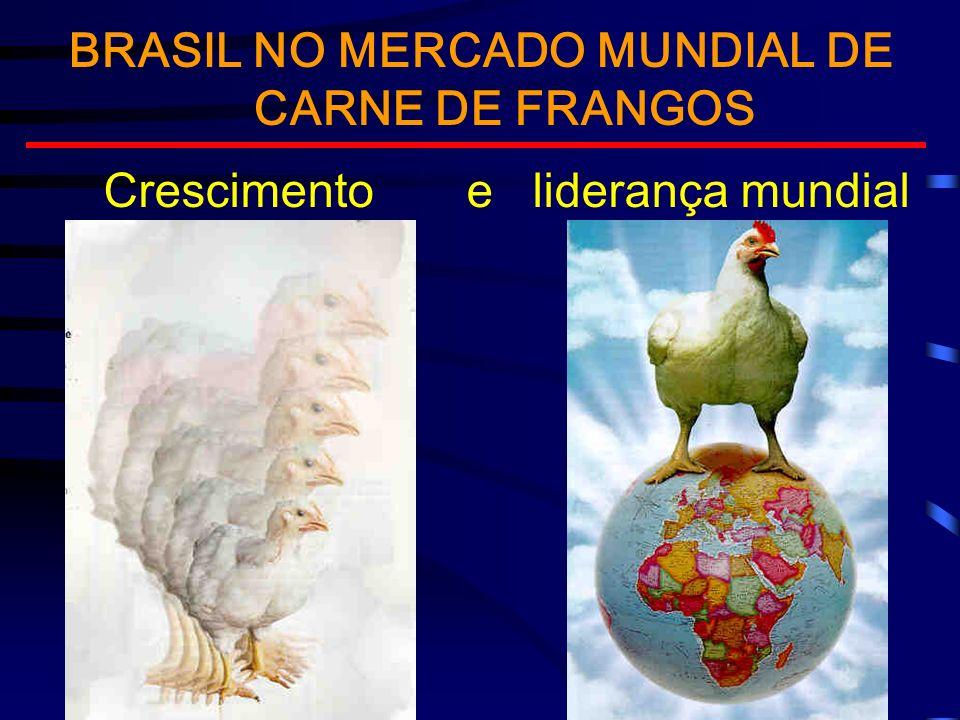 BRASIL NO MERCADO MUNDIAL DE CARNE DE FRANGOS Crescimento e liderança mundial