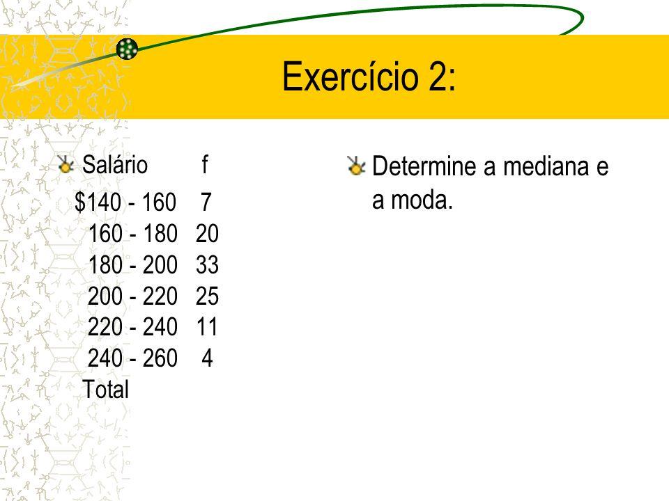 li - limite inferior da classe modal; d 1 - diferença entre a freqüência simples da classe modal e a anterior; d 2 - diferença entre a freqüência simp