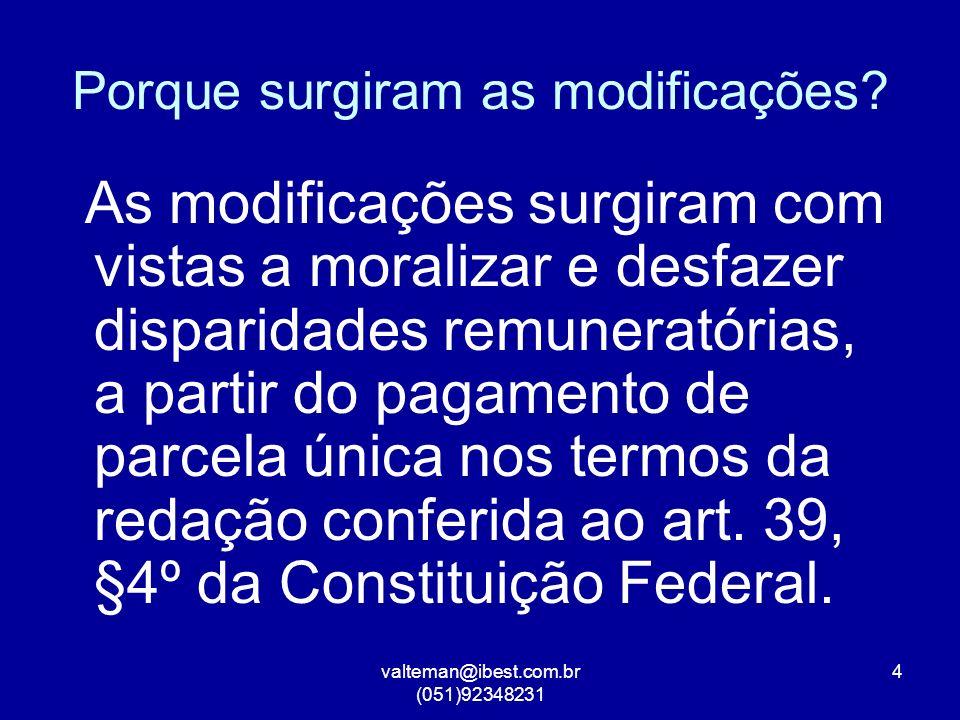 valteman@ibest.com.br (051)92348231 4 Porque surgiram as modificações.