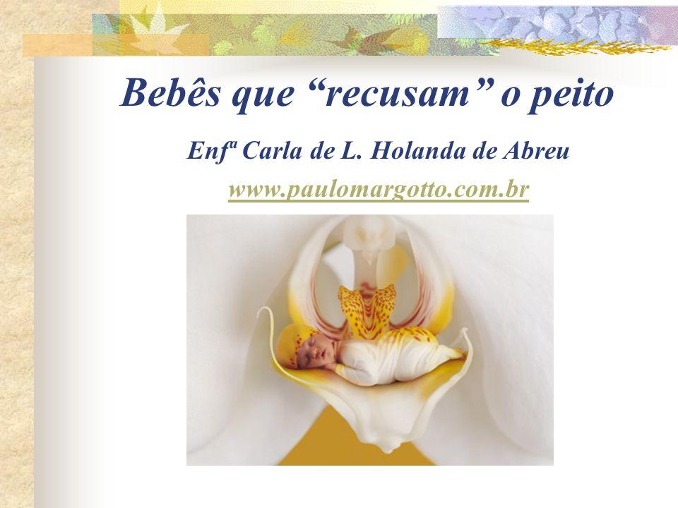 Bebês que recusam o peito Enfª Carla de L. Holanda de Abreu www.paulomargotto.com.br
