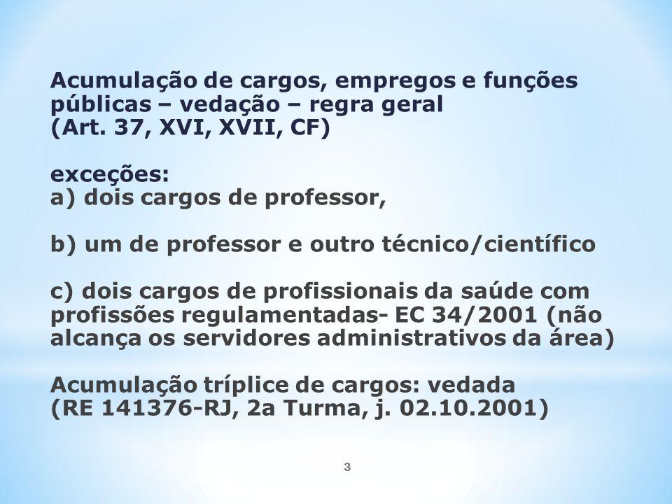3 Acumulação de cargos, empregos e funções públicas – vedação – regra geral (Art.