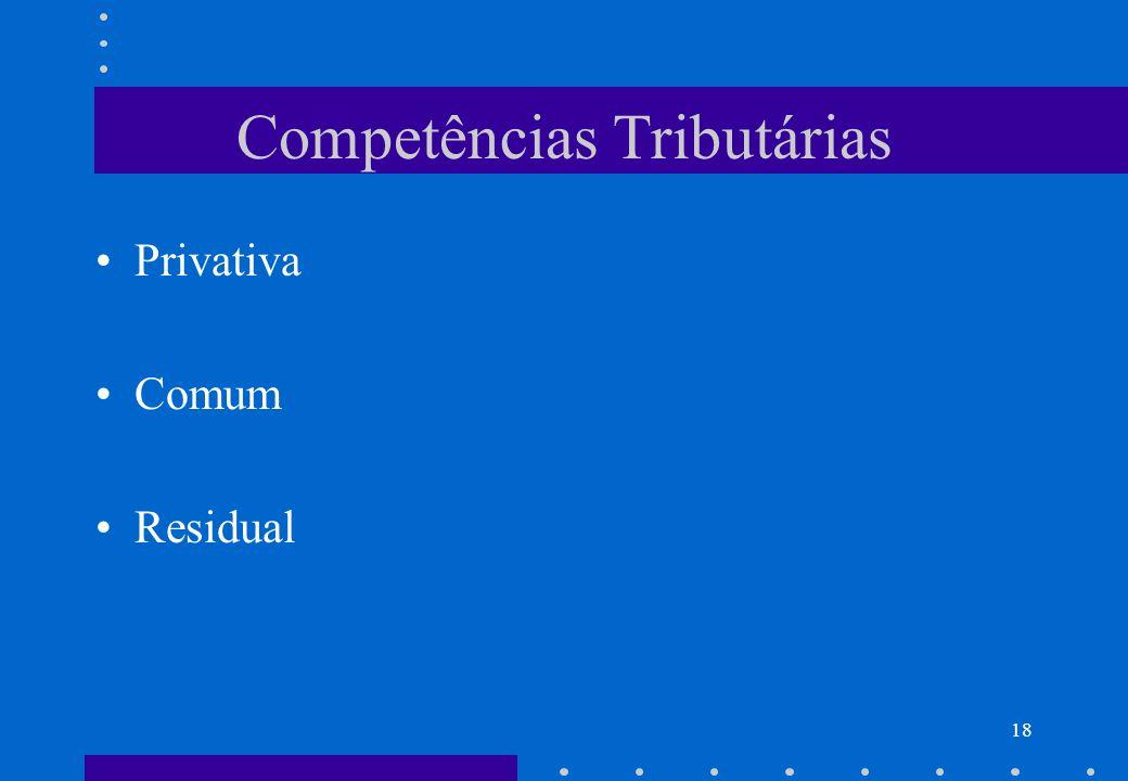 Competências Tributárias Privativa Comum Residual 18