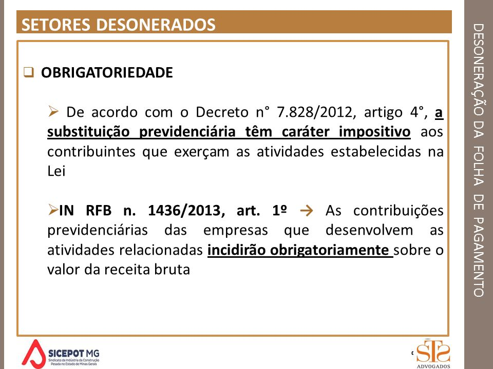 DESONERAÇÃO DA FOLHA DE PAGAMENTO RDFEDCCCZZ OBRIGADO .