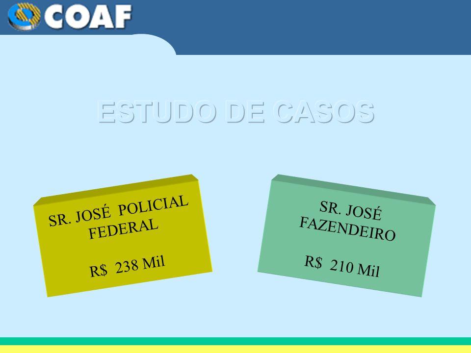 SR. JOSÉ POLICIAL FEDERAL R$ 238 Mil SR. JOSÉ FAZENDEIRO R$ 210 Mil