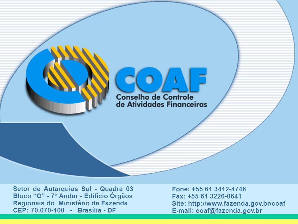 Setor de Autarquias Sul - Quadra 03 Bloco O - 7° Andar - Edifício Órgãos Regionais do Ministério da Fazenda CEP: 70.070-100 - Brasília - DF Fone: +55